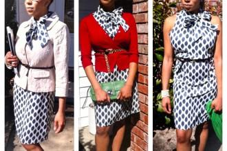 Marika Geometric Print Dress | Catenya.com