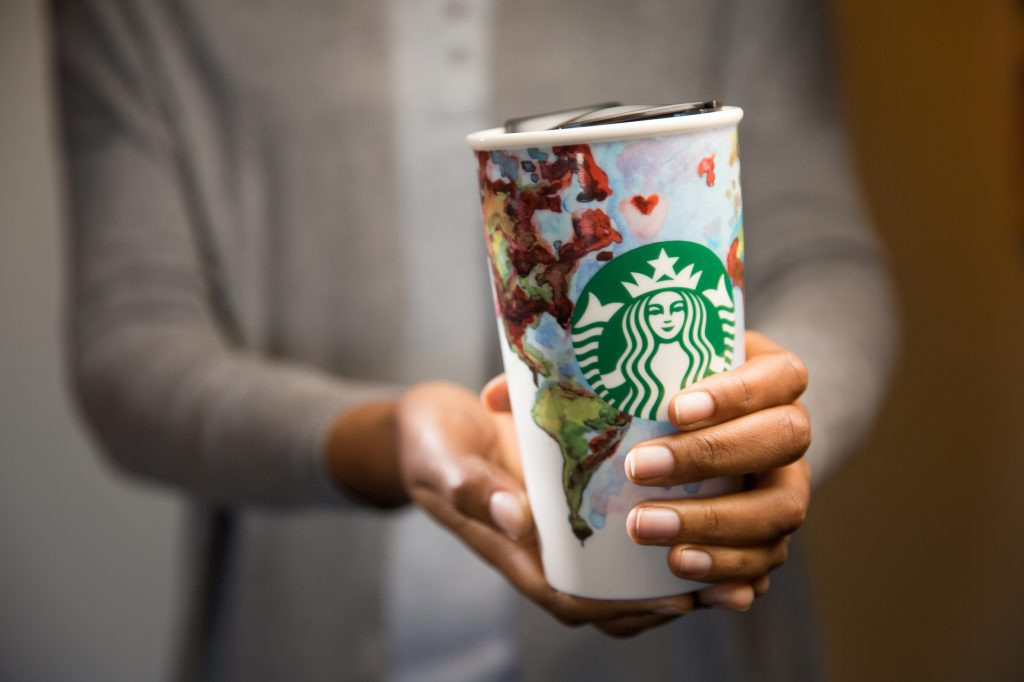 Partner mug photographed on March 11, 2016. (Joshua Trujillo, Starbucks)