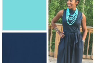 Color Combo : Truquoise+Navy | Catenya.com