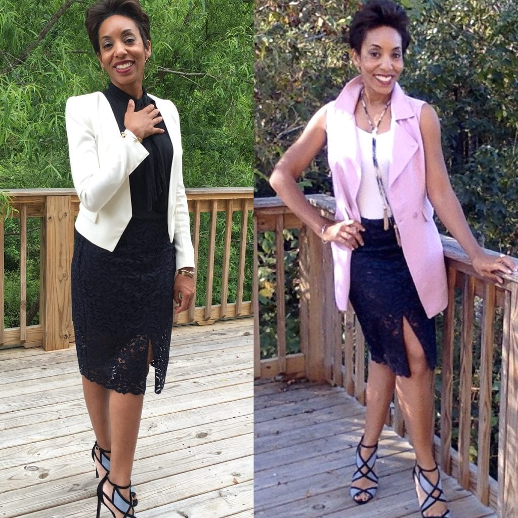 Nothing2Wear: 2 Ways To Wear A Lace Skirt